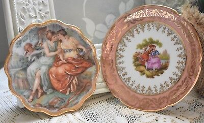 Pair of Limoges Small Decorative Dish Paris France