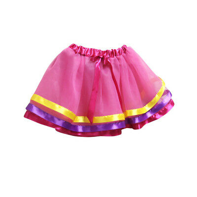 Girls Kids Tutu Party Ballet Dance Wear Dress Skirt Costume