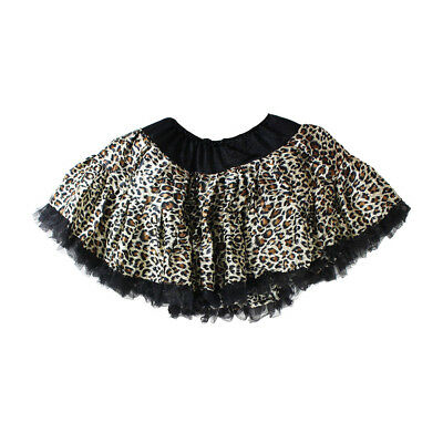Girls Kids Tutu Party Ballet Dance Wear leopard print Dress Skirt Costume