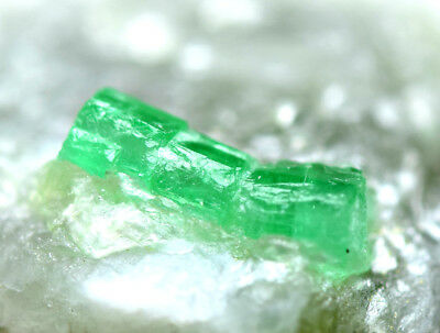 163 CRT Full terminated transparent top green natural Emerald crystals from @AFG