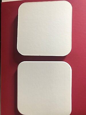 18 Soft White Round Rounded Corners 5.25 Cm Square Mountboard Offcuts