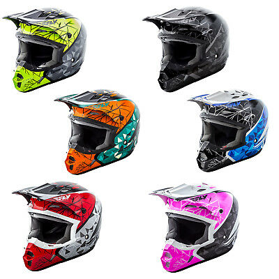 Fly Racing Kinetic Crux Motocross MX Dirtbike Helmet Youth Sizes