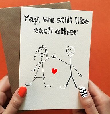 Funny Anniversary Card Valentines Day Card Fiance Gift Gift For