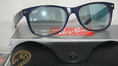 50bea99b05 RAY BAN NEW Wayfarer Matte Black Blue Gradient RB2132 63083F 55 18 ...