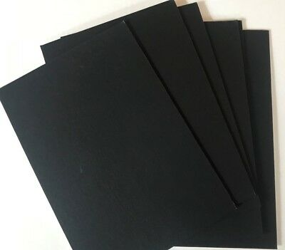 Pack Of Six 20Cm X 13.5Cm Black  Mountboard Card Pieces Free Postage For Crafts