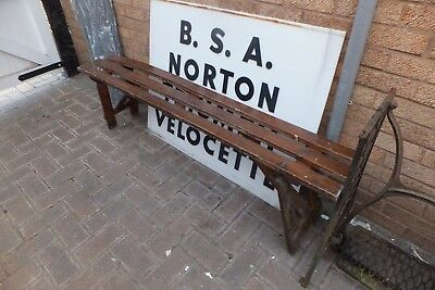 VINTAGE 1930s WOODEN FOLDING BENCH