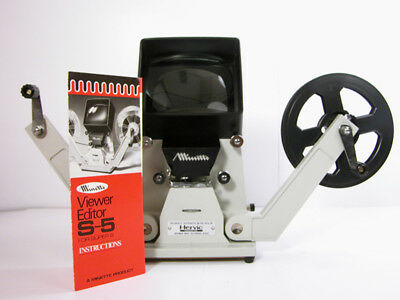 Professional MINETTE SUPER 8 VIEWER W/Film Reel and Inst Top Of the Line Viewer