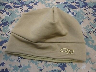 Outdoor Research Military Fleece Beanie Coyote Brown Watch Cap Small/medium