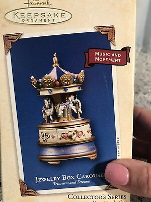 NIB Hallmark Keepsake Ornament Jewelry Box Carousel 2003 Blank Memory Card