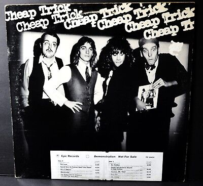 1977 Cheap Trick Gold Stamped White Label PROMO LP w/insert EPIC Records 34400