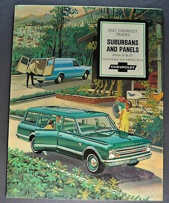 1967 Chevrolet Suburban & Panel Truck Brochure Excellent Original Not a Reprint