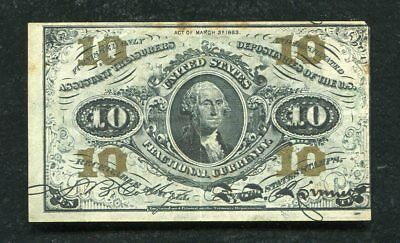 Fr. 1255 10 Ten Cents Third Issue Fractional Currency Extremely Fine
