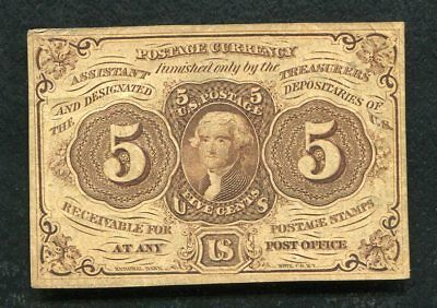 Fr. 1230 5 Five Cents First Issue Fractional Currency Note Very Fine+