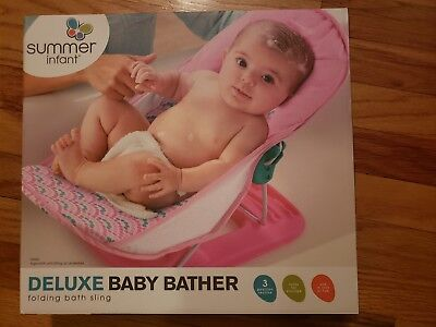 SUMMER INFANT DELUXE Baby Bather Pink - $13.00 | PicClick
