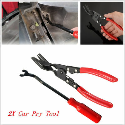 2pcs Car Door Panel Trim Clip Upholstery Removal Pliers+ Remover Pry Bar Tools