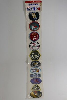 NASA Kennedy Space Center Complete Gemini Missions Emblem Patch Set