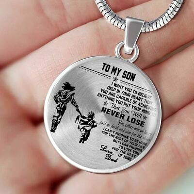 c59a9d6b00a61 TO MY SON Necklace chain - Dad Goku & Son Gohan Dragonball - Best ...