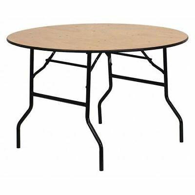 """Fold Table,Wood,Clear Finish,Round,48"""" FLASH FURNITURE YT-WRFT48-TBL-GG"""