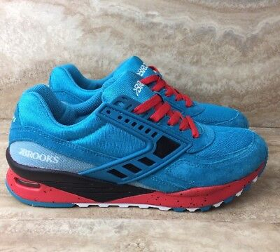 40cbd5a0ef4 BROOKS HERITAGE CITY Regent Sneakers Running Shoes Blue Red White ...