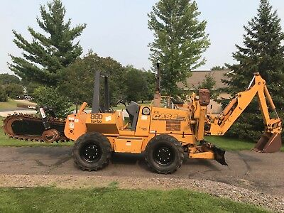Case 860 Turbo Trencher Backhoe 4X4 Ditch Witch