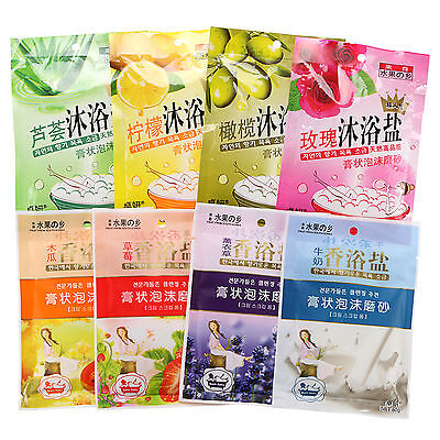 Body Relaxing Bath Sea Salts Spa Shower Favors Skin Care *** 8 Scents U Pick 80g