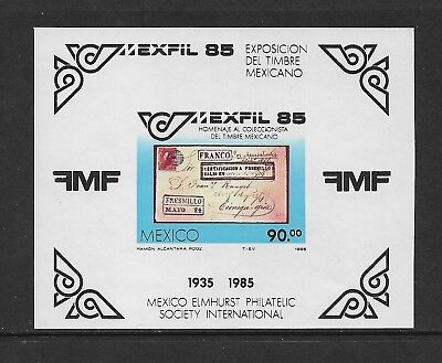 1985 MEXIFIL '85 EXHIBITION, Mexico, mint imperf mini sheet, MNH MUH