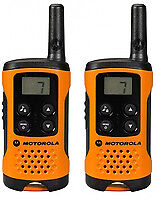 Walkie-Talkie Motorola TLKR T41 4 km LCD 16 h AAA Schwarz Orange