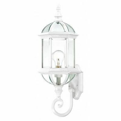 Boxwood 1 Light 22 in. Outdoor Wall Clear Beveled Glass Whit NUVO 60-4971