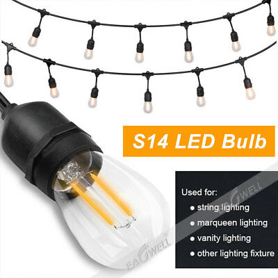 UL 48/52ft 15/18LED Outdoor Waterproof Commercial Grade Patio Globe String Light