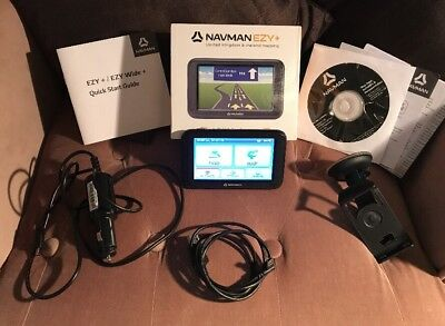 "REDUCED Navman Ezy+ 4.3"" Screen SatNav UK/ Ireland Mapping Complete with Box etc"