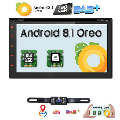 "7"" Android 8.1 Double 2DIN 4G WiFi HD Car Radio Stereo with DVD Player GPS Navi"