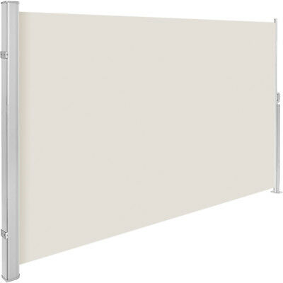 Garden side awning sunshade retractable windscreen windbreak alu beige