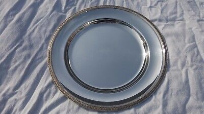 Christofle Gallia MALMAISON. silverplate round dish plate Tray 11.8 inches.30 cm