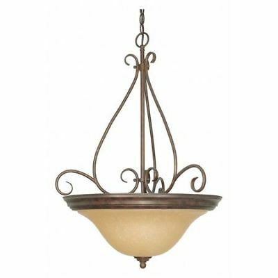 Castillo 3 Light 19 in. Pendant Champagne Linen Washed Glass NUVO 60-1028