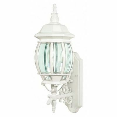 Central Park 3 Light 22 in. Wall Lantern Clear Beveled Glass NUVO 60-888