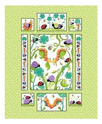 Susybee * Leif The Caterpillar Quilt Panel * Free Post *