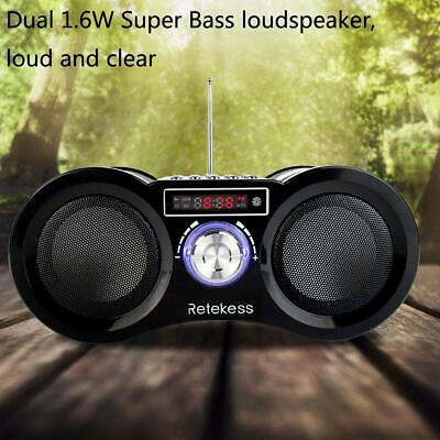 Portable FM Stereo Radio Speaker Rechargeable MP3 Player Digital Remote Control