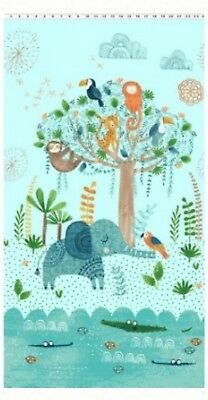 Jungle Fever Quilt Panel * New * Free Post *