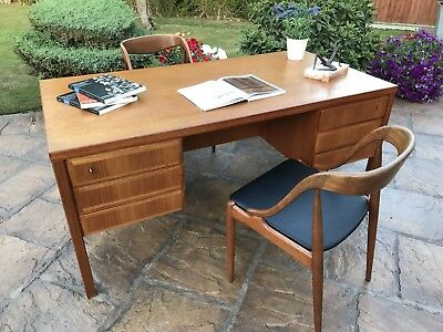 Danish Dansk Møbel Producent Large Partners Desk / Mid Century / Retro / Teak