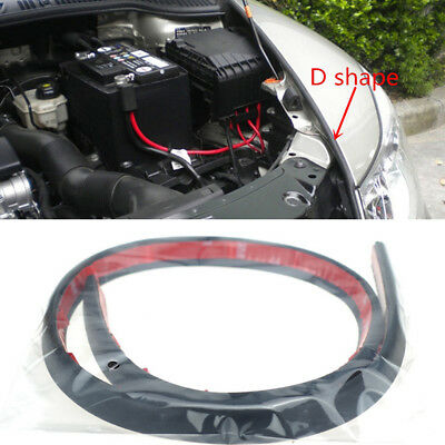 4M Sloping D Type Soundproof Dustproof Toughness Rubber Car Door Edge Seal Strip