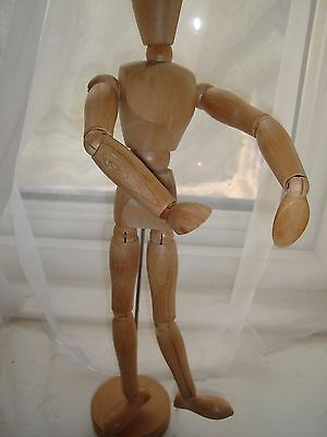 "12.5"" High Bendy Wooden Man Figure"
