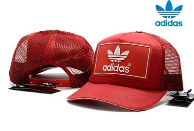 Mens Adidas Red Trucker Hat cap Brand New With Tags One Size Fits All