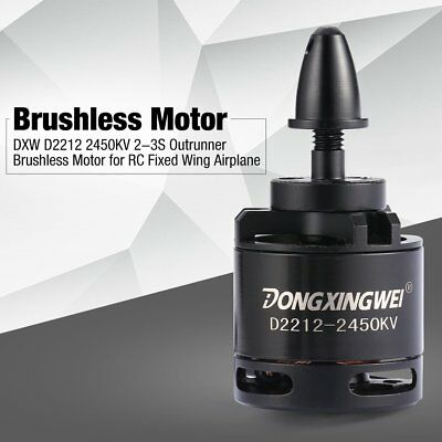 DXW D2212 2450KV 2-3S Outrunner Brushless Motor for RC Fixed Wing AirplaneQC