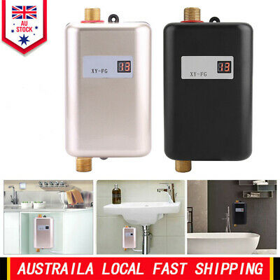 Bathroom Tankless Hot Water System Instant Electric Kitchen Sink Water Heater AU