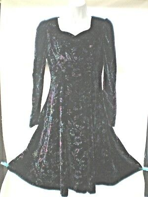 VELOUR  SIZE 10 PARTY/OCCASION DRESS VGC VINTAGE  fab for festive season