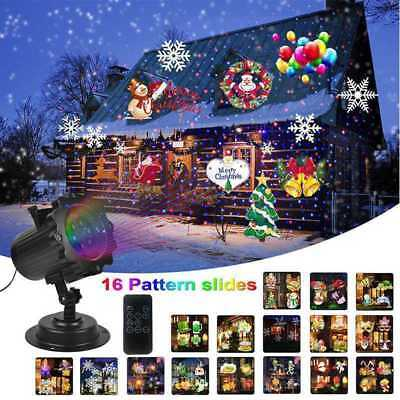 12/16 Types Halloween Laser Snowflake Projector Outdoor LED Lamps Garden Decor