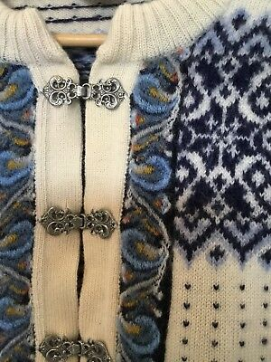 VINTAGE Pure Virgin Wool NORSEWEAR NORDIC CARDIGAN M Made In New Zealand