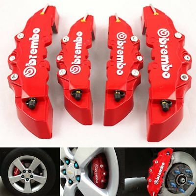 New 4X ABS Red 3D Style Front Rear Universal Disc Car Truck Brake Caliper Covers