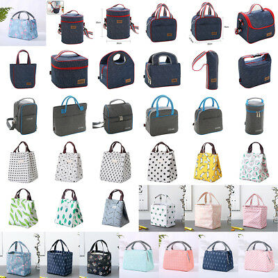 Insulated Thermal Cooler Lunch Box Carry Tote Storage Bag Picnic Case Multi-Type