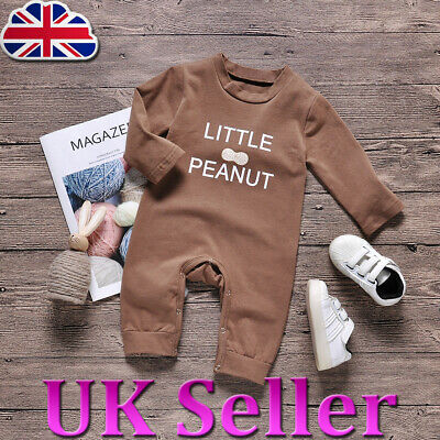 Infant Toddler Baby Kids Girls Boys Little Peanut Romper Jumpsuit Outfit Clothes